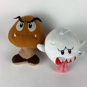 Super Mario Goomba and Boo Plushies.